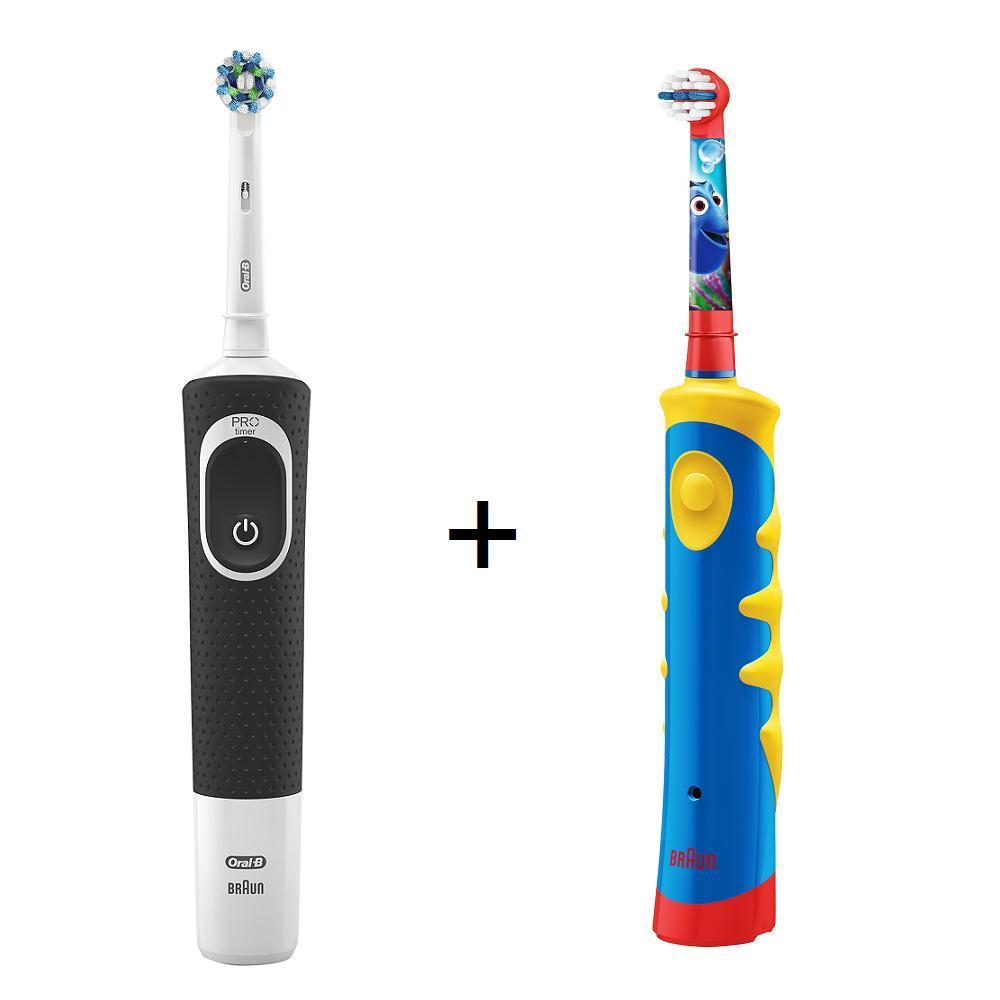 Oral-B D100電動牙刷+D10德製兒童電動牙刷(親子組合包)