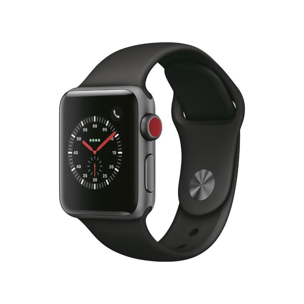 Apple Watch S3 LTE 38mm 太空灰色鋁金屬-運動型錶帶