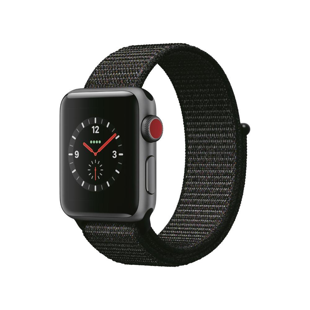 Apple Watch S3 LTE 38mm 太空灰色鋁金屬-運動型手環